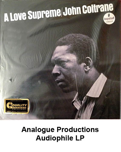 analogue productions audiophile LP