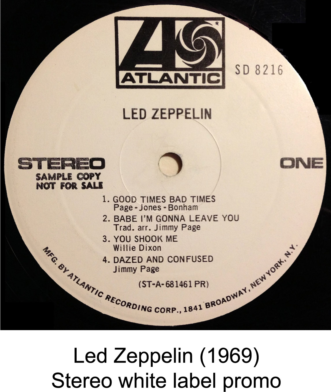Led Zeppelin White Label Promo Rare Records Rare Rock