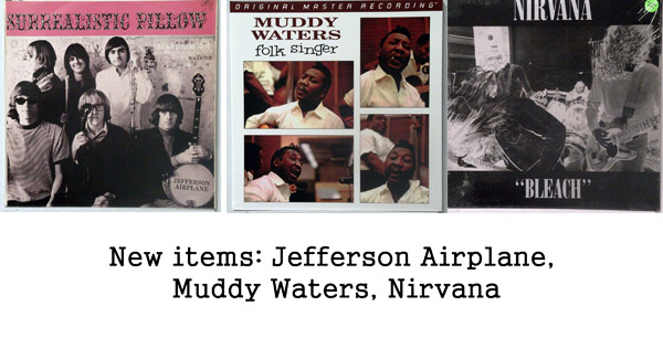 rare records - nirvana, muddy waters, jefferson airplane