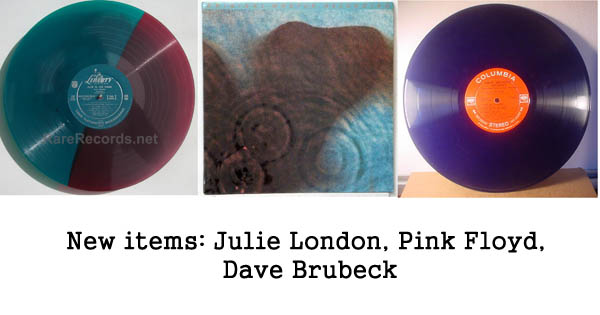 rare records: Julie London, Pink Floyd, Dave Brubeck