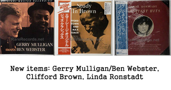 new items gerry mulligan, clifford brown, linda ronstadt