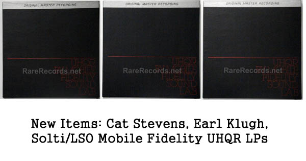 new rare records: cat stevens, earl klugh, planets UHQR