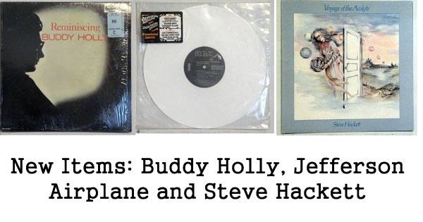 rare records - buddy holly, jefferson airplane, steve hackett