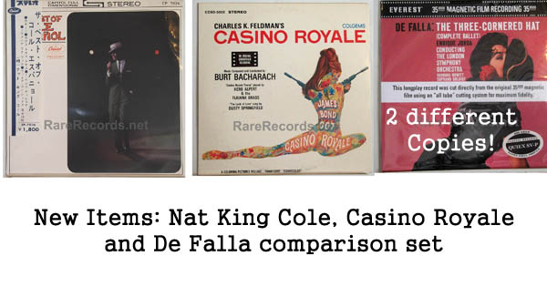 rare records - nat king cole, casino royale, de falla