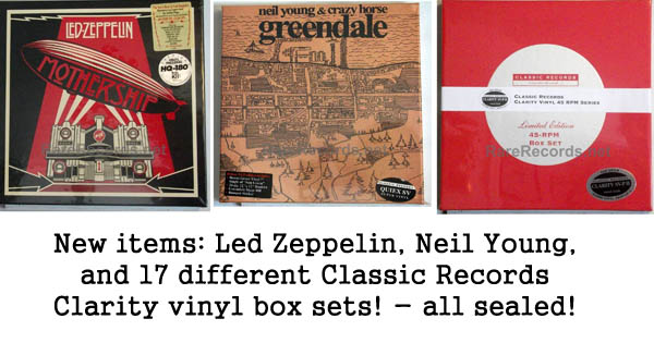 rare records - led zeppelin, neil young, classic records
