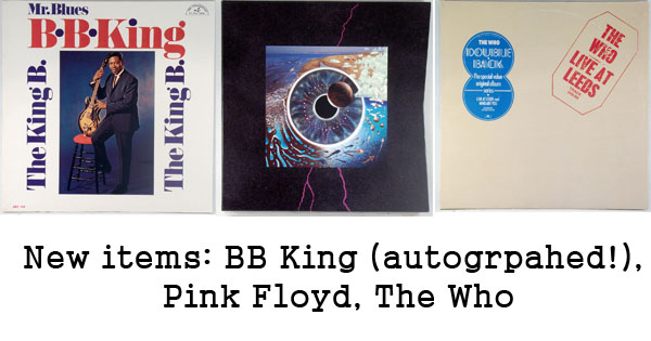 new rare records - bb king, pink floyd, the who