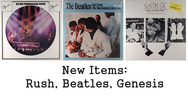 new rare records - beatles, rush, genesis