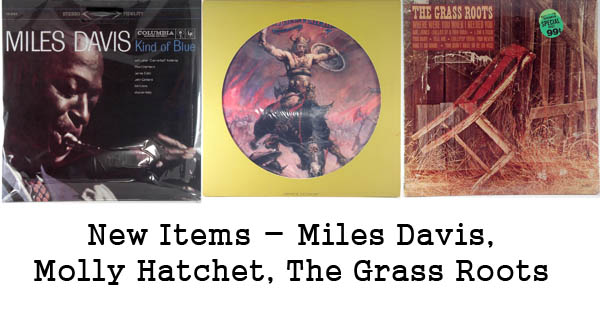 rare records - miles davis, molly hatchet, the grass roots