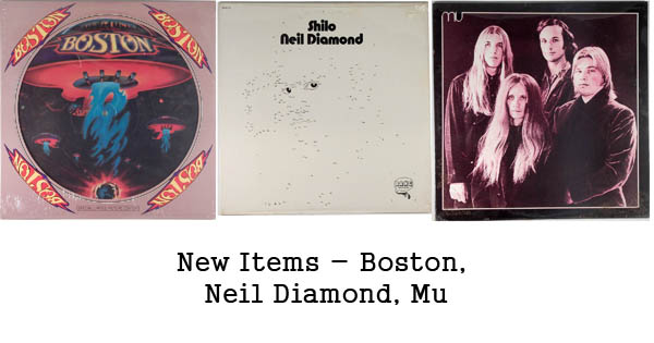new rare records - boston, neil diamond, mu