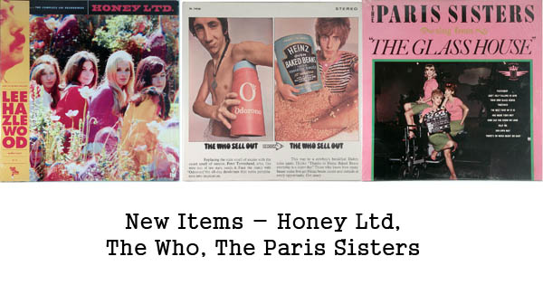 new rare records - the who, honey ltd, the paris sisters