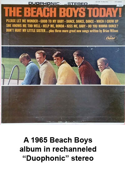 fake duophonic stereo records