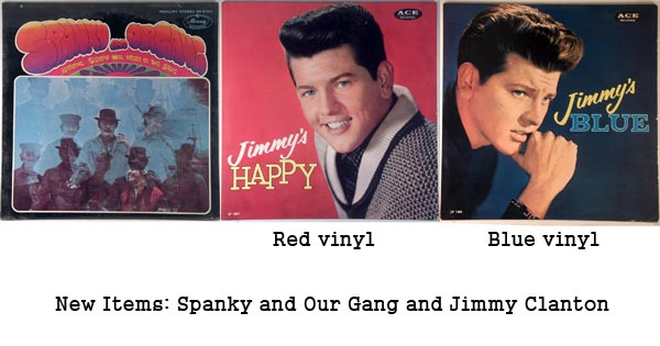 new items - spanky and our gang, jimmy clanton