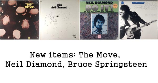 new rare records - the move, neil diamond, bruce springsteen