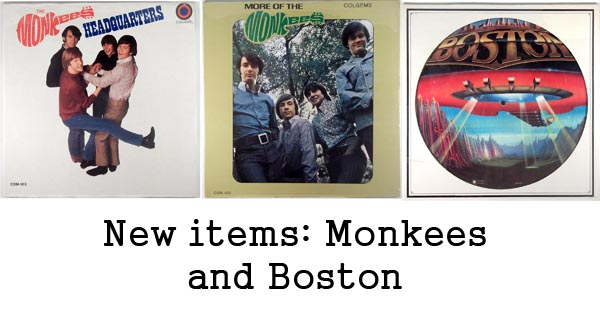 new rare records - monkees and boston