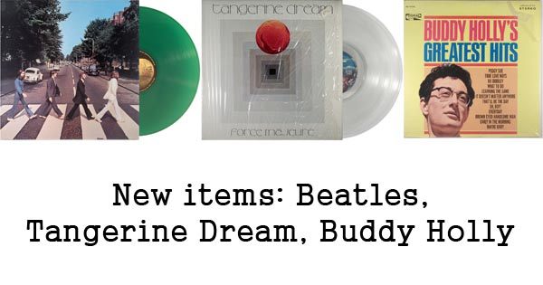 rare records - beatles, tangerine dream, buddy holly