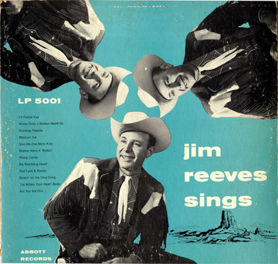 Jim Reeves first album on the small Abbott label.