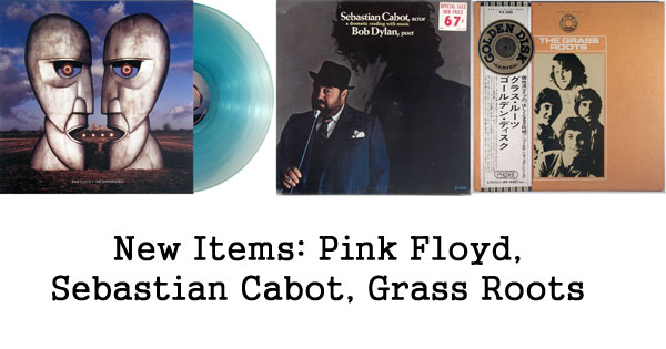 new rare records - pink floyd, sebastian cabot, grass roots