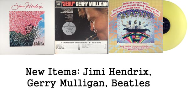 new rare records - jimi hendrix, gerry mulligan, beatles