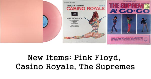 new items rare records pink floyd casino royale supremes