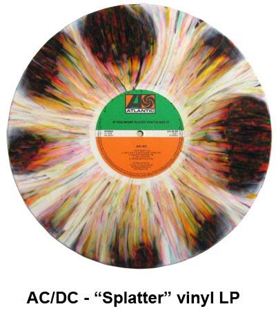 ac/dc- splatter vinyl LP