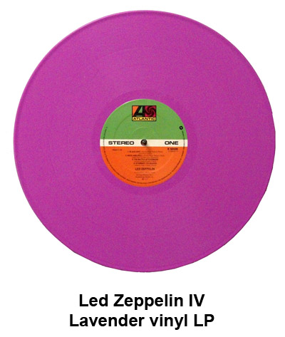 led zeppelin colored vinyl LP