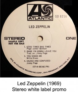 led zeppelin white label promo