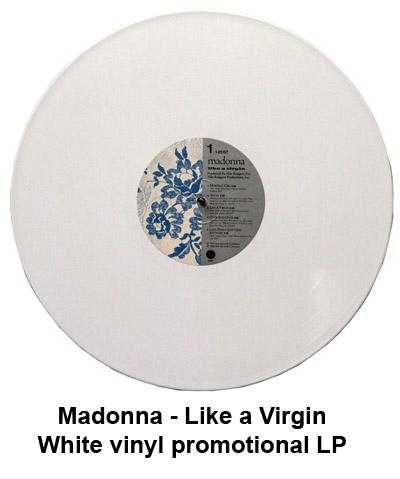 madonna white vinyl promo LP