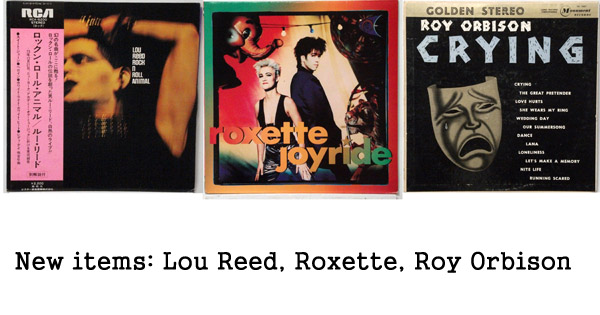 lou reed, roxette, roy orbison