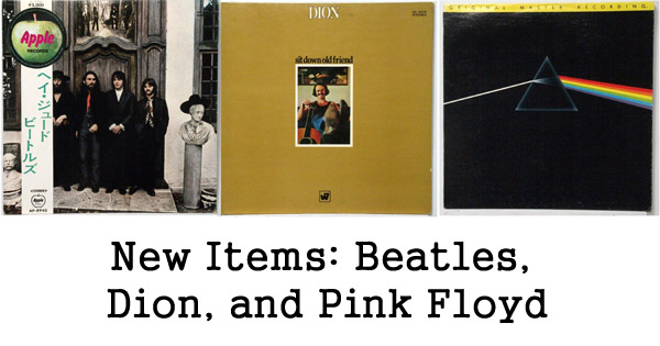 new items pink floyd, dion, beatles