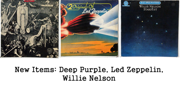 new items deep purple, led zeppelin, willie nelson