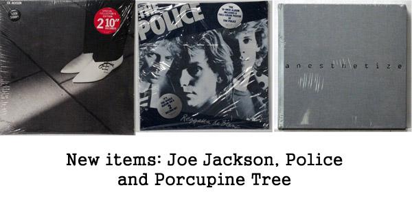 new items police, joe jackson, porcupine tree