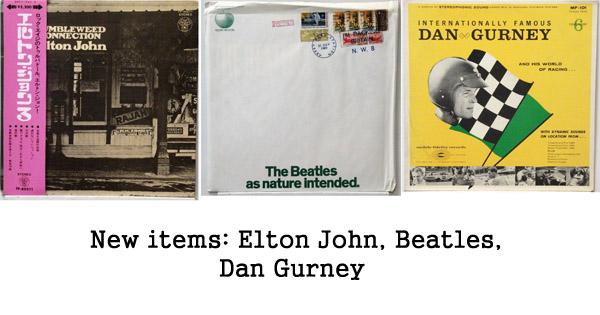 rare records: elton john, beatles dan gurney mfsl