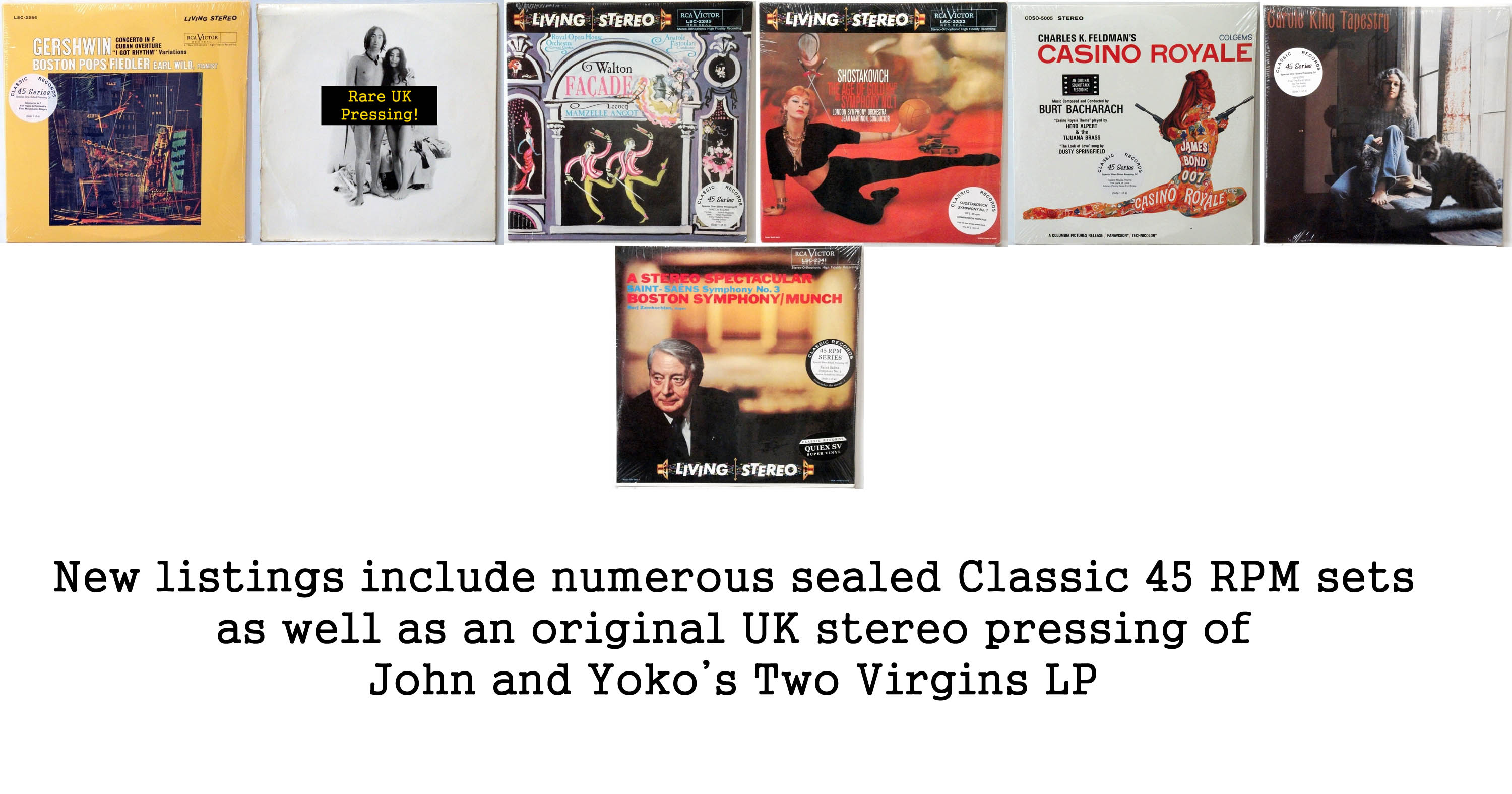 new rare records - classic records, two virgins
