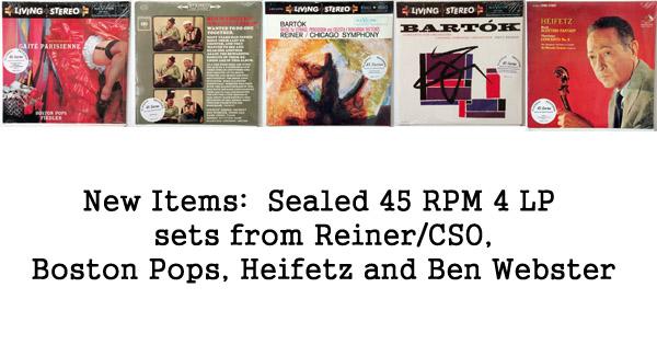 rare records - classic records, reiner/cso, heifetz, living stereo