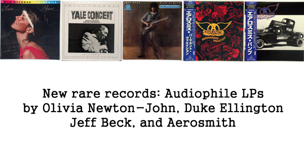 new rare records - aerosmith, olivia newton-john, duke ellington, jeff beck