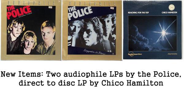 rare records - police and chico hamilton audiophile LPs