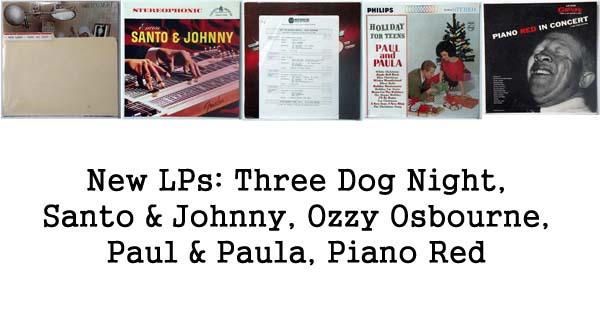 rare records - three dog night, ozzy, piano red