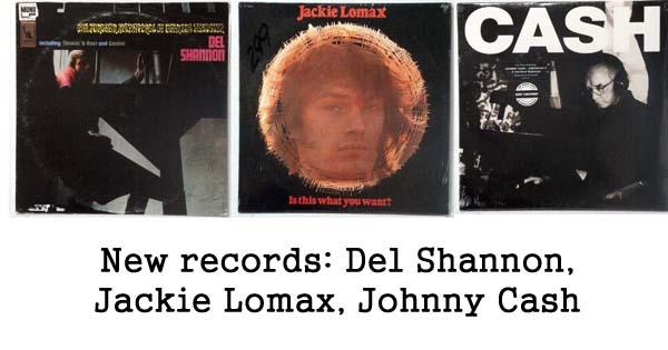 rare records - del shannon, jackie lomax, johnny cash