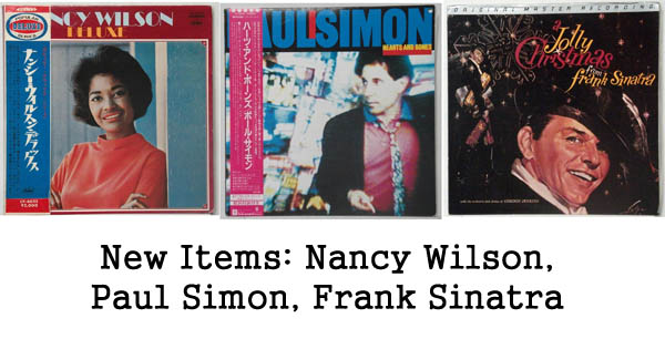 new items: paul simon, nancy wilson, frank sinatra