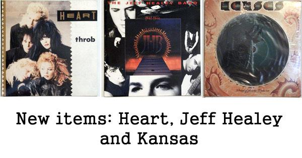 rare records - heart, jeff healey, kansas