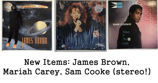 rare records - james brown, mariah carey, sam cooke