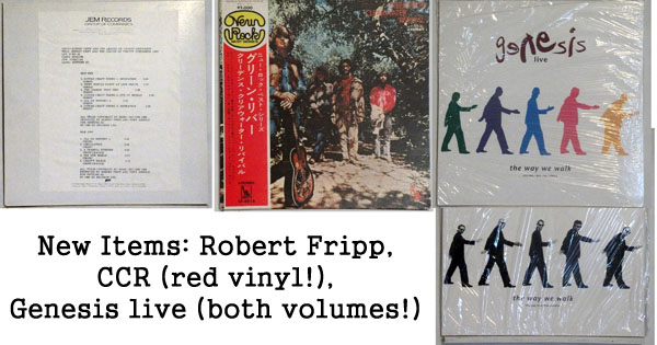 rare records - robert fripp, ccr