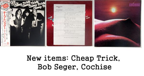 new rare records - bob seger, cheap trick, cochise