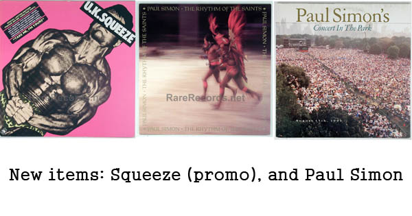 rare records - paul simon and squeeze