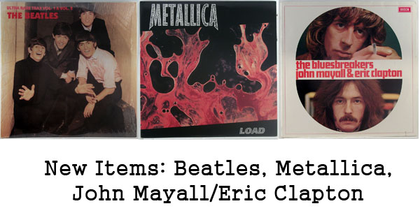 rare records - beatles, metallica, john mayall, eric clapton