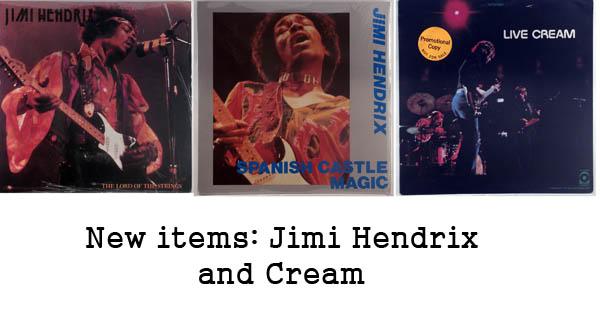 rare records - jimi hendrix and cream