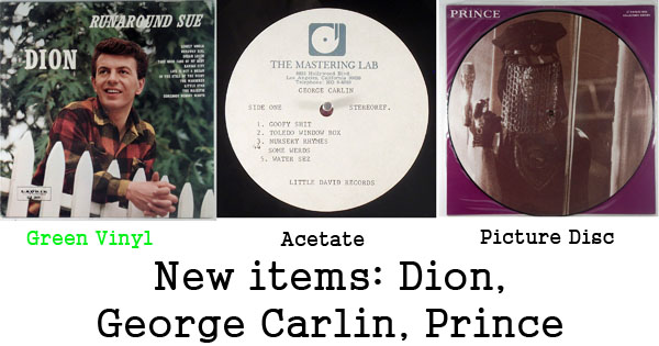new rare records - dion, george carlin, prince