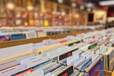 collecting vinyl records