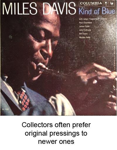 original pressing records