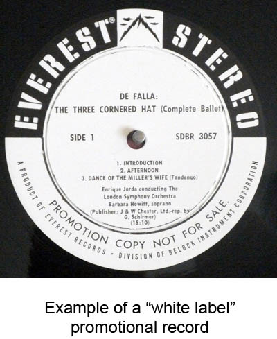 white label promo records